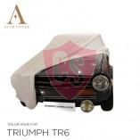 Triumph TR4 TR6 Autoabdeckung - Maßgeschneidert - Weiß