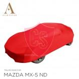 Mazda MX-5 ND Autoabdeckung - Maßgeschneidert - Rot