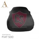 Fiat 500 500C Autoabdeckung - Maßgeschneidert - Schwarz