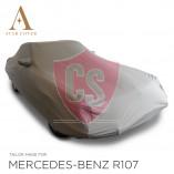 Mercedes-Benz R107 SL Wasserdichte Vollgarage - Star Cover - Khaki - Spiegeltaschen