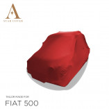 Fiat 500 Autoabdeckung - Rot