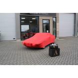 Fiat X 1/9 Autoabdeckung Rot mit Bertone Emblem
