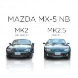 Mazda MX-5 NB Edelstahl Kühlergrill - BLACK EDITION 1-Teilig 2002-2005 Facelift Model