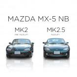 Mazda MX-5 NB Edelstahl Kühlergrill - BLACK EDITION 1-Teilig 1998-2002 bis Facelift