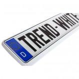 Kennzeichenhalter in Trend-White (1 Stuck)
